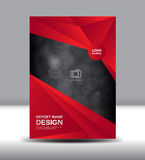 Red Cover design and Cover Annual report vector illustration, boo. Klet, poster, leaflet stock illustration