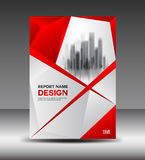 Red Cover design layout template design, flyer, poster Royalty Free Stock Image