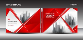 Red Cover design template for magazine, ads, presentation, annual report, book, leaflet, poster, catalog, printing media Stock Image