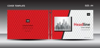 Red Cover design template for magazine, ads, presentation, annual report, book, leaflet, poster. Catalog, printing media, newsletter, business brochure flyer vector illustration