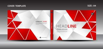 Red Cover design template for magazine, ads, presentation, annual report cover, book cover, leaflet, poster, catalog, printing Royalty Free Stock Photo