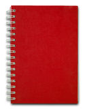 Red cover Note Book Royalty Free Stock Photography