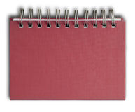 Red cover Note Book. The red cover of Note book Horizontal Royalty Free Stock Images