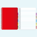 Red cover notebook. And blank page Royalty Free Stock Photos