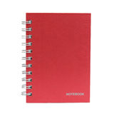 Red cover of Notebook isolated on white background Royalty Free Stock Photos