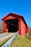 Red Covered Bridge Stock Photo