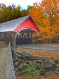 The red covered Bridge Royalty Free Stock Photography