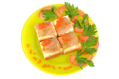Red coviar and salmon Stock Image