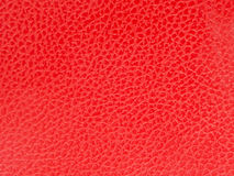 Red cow  leather with pattern Stock Image