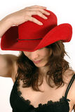 Red cowboy hat Stock Image