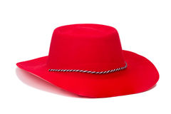 Red cowboy hat Stock Photo