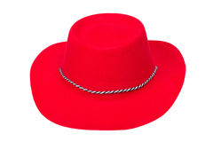 Red cowboy hat Stock Photography