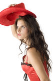 Red cowgirl Royalty Free Stock Photos