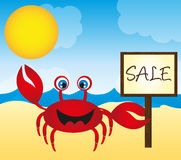 Red crab cartoon Stock Photography