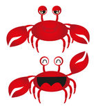 Red crab cartoon Stock Photos