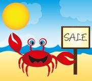 Red crab cartoon Stock Photography