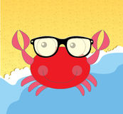 Red crab cartoon Stock Images