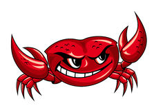 Red crab with claws Royalty Free Stock Photography