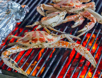 Red Crab GRILLED SEAFOOD Royalty Free Stock Photography