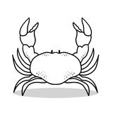 Crab outline illustration. Isolated crab outline cartoon Stock Photo