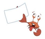 Red crab white blank cartoon Royalty Free Stock Photos