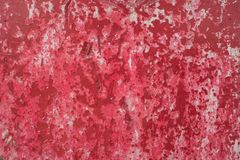 Red crack painted wall. Background Stock Images