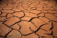 Red cracked ground. Deep cracks Stock Image