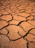 Red cracked ground. Deep cracks Stock Images