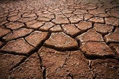 Red cracked ground. Deep cracks Stock Photos