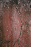 Red cracked grunge wall stock photography