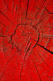 Red cracked and painted wood background Stock Images