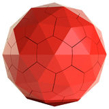 Red cracked sphere on white background Royalty Free Stock Photography