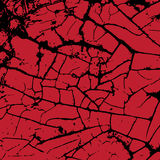 Red cracking texture. Grunge background. Pattern with cracks. Ve Royalty Free Stock Image