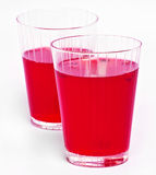 Red cranberry fruit drinks Royalty Free Stock Photography