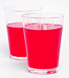Red cranberry fruit drinks Royalty Free Stock Photo