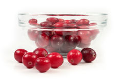 Red cranberry on white Royalty Free Stock Photos