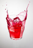Red cranderry drink Royalty Free Stock Images