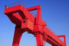 Red crane. An red crane in outdoor stock photos