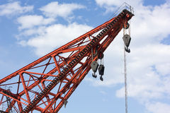 Red Crane Arm Stock Photo