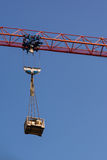 Red Crane Arm Holding Load Construction Industry Royalty Free Stock Photography