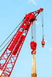 Red crane Royalty Free Stock Photography