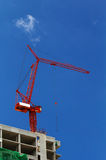 Red crane Royalty Free Stock Images