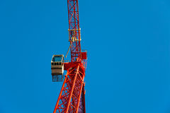 Red Crane with Copyspace Royalty Free Stock Photography