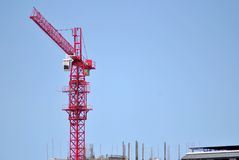 Red crane tower Stock Image