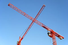 Red Cranes Royalty Free Stock Images