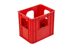 Red crate on white background Royalty Free Stock Image