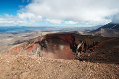 Red Crater at Tongariro Alpine Crossing track, New Zealand Royalty Free Stock Photos
