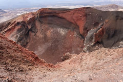 Red Crater at Tongariro National Park. In New Zealand Royalty Free Stock Photos