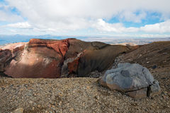 Red Crater in Tongariro National Park in New Zealand Royalty Free Stock Images