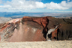 Red Crater in Tongariro National Park in New Zealand Stock Image